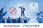 businessman self presentation... | Shutterstock .eps vector #1702247809