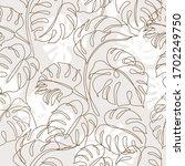 minimal botanical art seamless... | Shutterstock .eps vector #1702249750