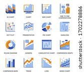financial chart icons set in...