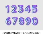 realistic 3d font color rainbow ... | Shutterstock .eps vector #1702292539