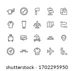 big set of travel line icons.... | Shutterstock .eps vector #1702295950