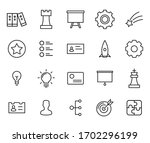 icon set of business. editable... | Shutterstock .eps vector #1702296199