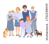 family happy together. group of ... | Shutterstock .eps vector #1702298929