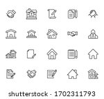 simple set of real estate... | Shutterstock .eps vector #1702311793