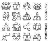 team and business icons set on... | Shutterstock .eps vector #1702328719