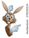 cute cartoon easter bunny... | Shutterstock . vector #170233214