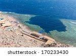 blue hole is a popular diving...   Shutterstock . vector #170233430