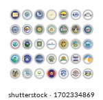 set of vector icons. seals of... | Shutterstock .eps vector #1702334869
