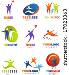 collection of human  icons | Shutterstock .eps vector #17023363