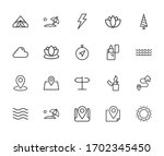 vector line icons collection of ... | Shutterstock .eps vector #1702345450