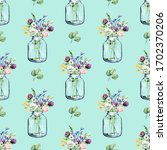 seamless background  floral... | Shutterstock . vector #1702370206