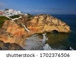 Algarve Rock Coast  Colourful...