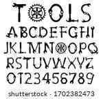 hand tool font vector. mr.fix...   Shutterstock .eps vector #1702382473