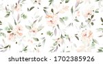seamless pattern with flowers... | Shutterstock . vector #1702385926