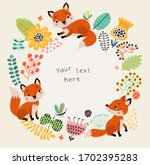 floral background  frame for... | Shutterstock .eps vector #1702395283