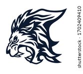 lion mascot roaring vector icon ...   Shutterstock .eps vector #1702409410