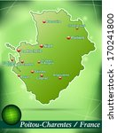map of poitou charentes with... | Shutterstock . vector #170241800