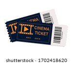 movie tickets. two tickets in... | Shutterstock .eps vector #1702418620