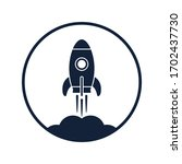 rocket rocketing graphics icon. ... | Shutterstock .eps vector #1702437730