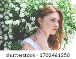 Beautiful Red Haired Woman Wit...
