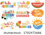 set of summer elements with the ... | Shutterstock .eps vector #1702472686
