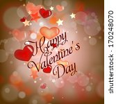 happy valentines day cards with ... | Shutterstock .eps vector #170248070