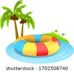 illustration of tube with palm...   Shutterstock .eps vector #1702508740