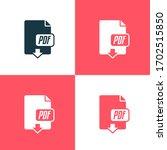 pdf download vector color icon... | Shutterstock .eps vector #1702515850