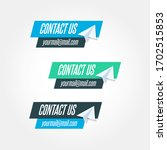 contact us message icon vector... | Shutterstock .eps vector #1702515853