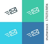 mail message vector color icon... | Shutterstock .eps vector #1702515856