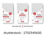 editable food menu banner... | Shutterstock .eps vector #1702540630