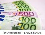 500 Euro Banknote Among 100...