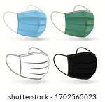 medical surgical mask. face... | Shutterstock .eps vector #1702565023