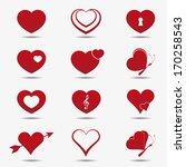 heart icons  vector. | Shutterstock .eps vector #170258543