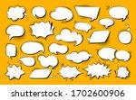 Speech Bubble Comic Pop Art Set....