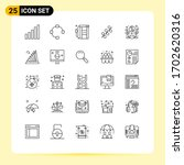 pack of 25 creative lines of... | Shutterstock .eps vector #1702620316