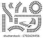Railroad Tracks. Straight  Wavy ...