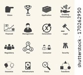 big data icon set  business it... | Shutterstock .eps vector #170262950