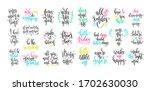 set of 25 hand lettering...   Shutterstock .eps vector #1702630030
