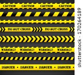 Set Of Caution Tapes. Vector...