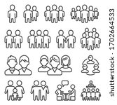 human group icons set on white... | Shutterstock .eps vector #1702664533