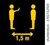 social distancing figures 1 5... | Shutterstock .eps vector #1702712503