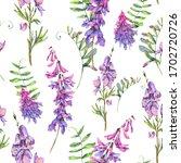 watercolor summer seamless... | Shutterstock . vector #1702720726