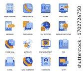 people communication icons set...