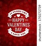 happy valentine's day message... | Shutterstock .eps vector #170272739