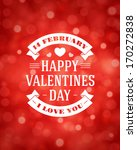 happy valentine's day message... | Shutterstock .eps vector #170272838