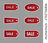 six red price tag vector image | Shutterstock .eps vector #1702736806