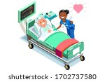 clinic of medical health  woman ... | Shutterstock .eps vector #1702737580
