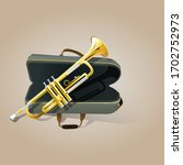 illustration of trumpet  with... | Shutterstock .eps vector #1702752973