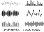 sound waves  volume diagrams.... | Shutterstock .eps vector #1702760509